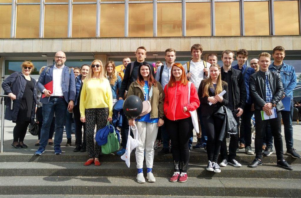 Polnische Studierende zu Gast auf der Messe INKONTAKT in Schwedt/Oder 2019