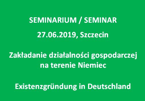Seminar Existenzgründung in Deutschland_27.06.2019 Szczecin